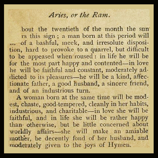 Traits of Aries 1893 | Essential Bygone Housewifery
